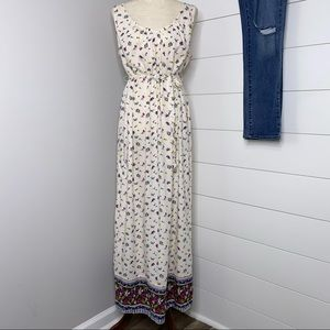 Old Navy Maternity Tie Waist Floral Dress Large